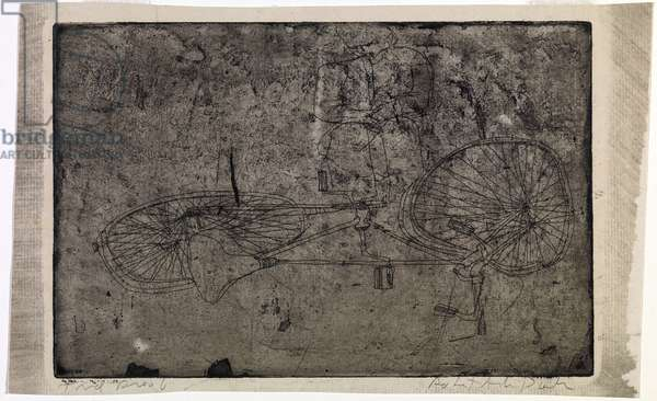 Untitled (Bicycle) c.1952 (etching)