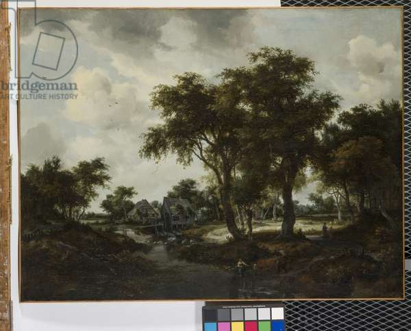 The Water Mill (The Trevor Landscape) (oil on canvas)