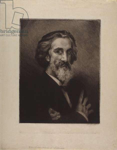 Portrait of Arthur d'Echerac, 1883 (etching)