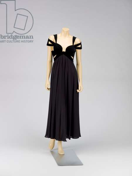 Evening gown, Spring/Summer 1992 (cotton velveteen, polyester)
