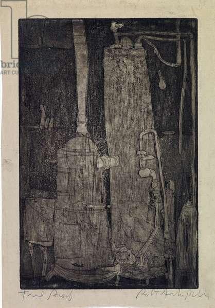 Heating System, c.1952 (etching & aquatint)