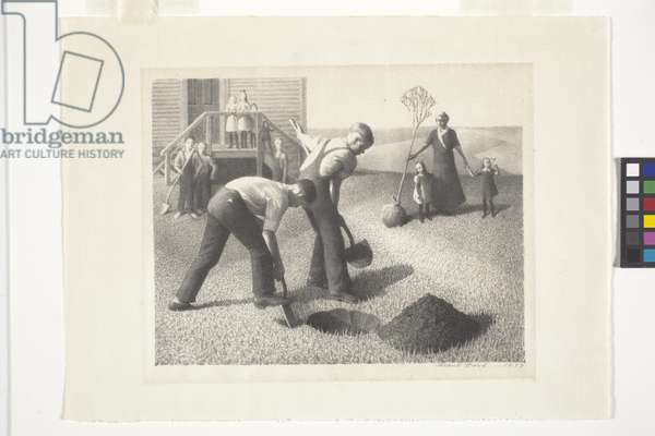 Tree Planting Group (lithograph)
