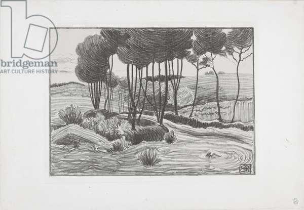 The Poplars, 1893-94 (litho)
