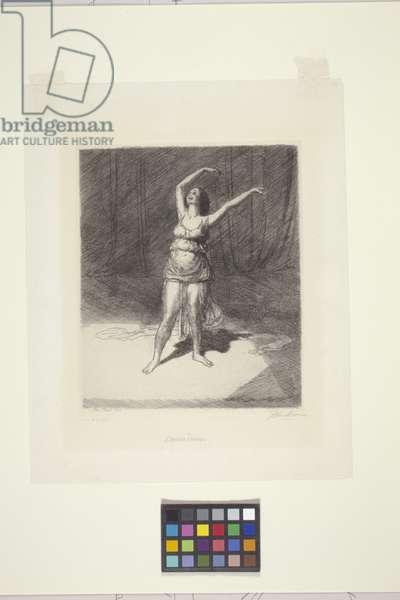 Isadora Duncan (etching)