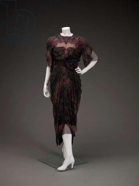 Dress, 1990 (silk chiffon & faux pearls)