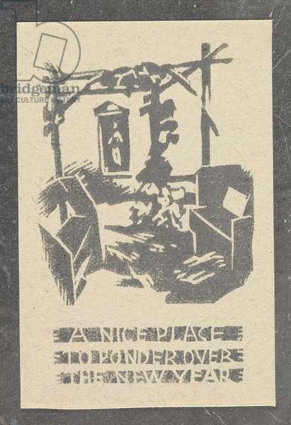 Baumann Christmas Card, 1959 (woodblock print on paper)