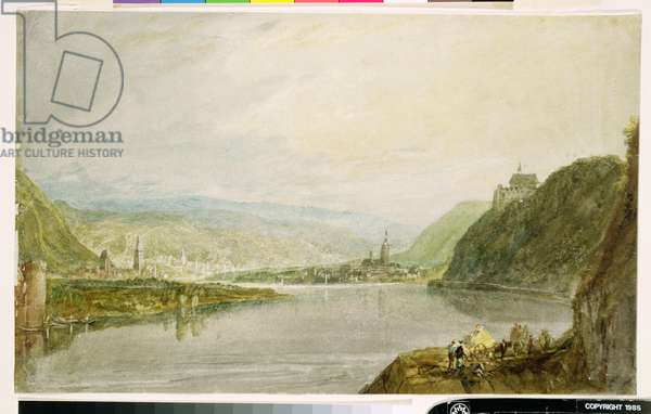 Remagen and Linz, 1817 (w/c & gouache on white wove paper with grey wash)
