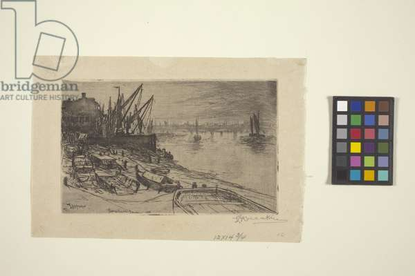River Thames, At London (etching)