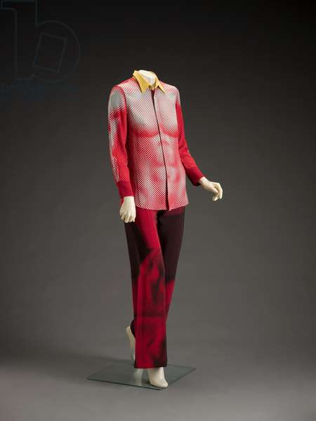 Suit, 1990s (rayon, polyester & mother of pearl)