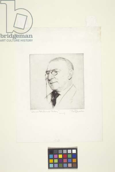 James Whitcomb Riley (drypoint)