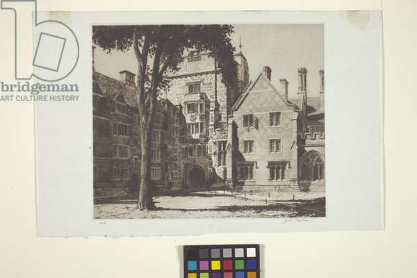 Calhoun College (etching)