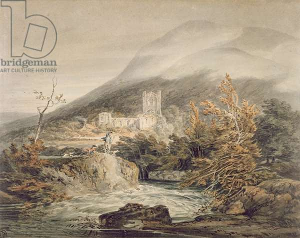 Llanthony Abbey, Monmouthshire, c.1792 (w/c with pen & ink on white paper)