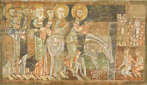 Entry of Christ into Jerusalem, c.1125 (fresco)