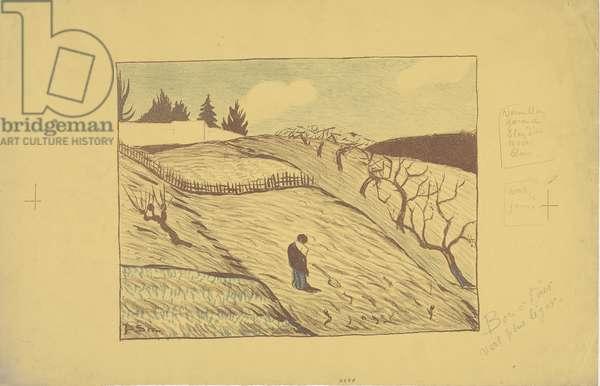 La fin du jour (The End of the Day) 1893 (colour litho)