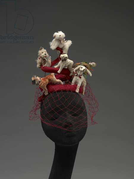 Hat with Dogs, 1964 (mixed media)