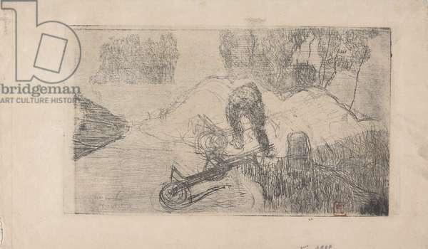 Le Debardeur (The Stevadore) 1893 (etching)