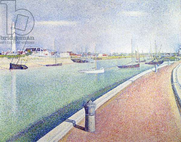 The Channel of Gravelines, Petit Fort Philippe, 1890 (oil on canvas)