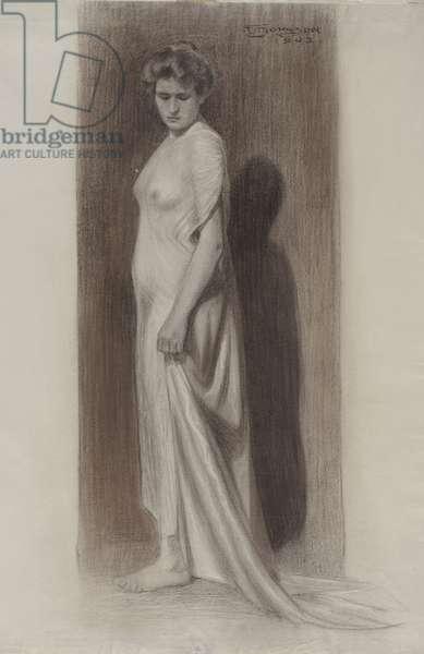 Female figure, 1902 (graphite on paper)