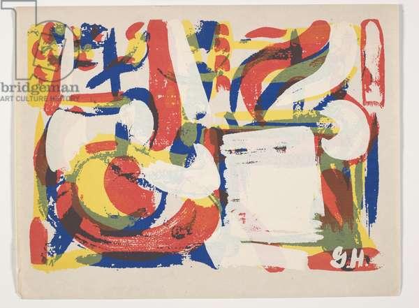 Abstract Still Life, 1953 (screenprint)