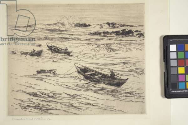 Easterly Coming (woodblock print)