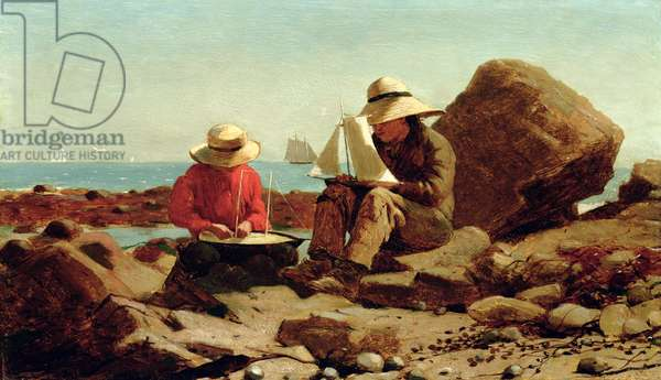 The Boat Builders, 1873 (oil on panel)