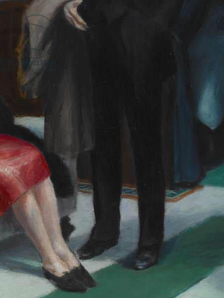 Hotel Lobby, 1943 (oil on canvas) (detail of 1560528)