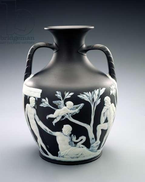 Vase, copy of the Portland vase, Josiah Wedgwood and Sons, Ltd, c.1790 (stoneware)
