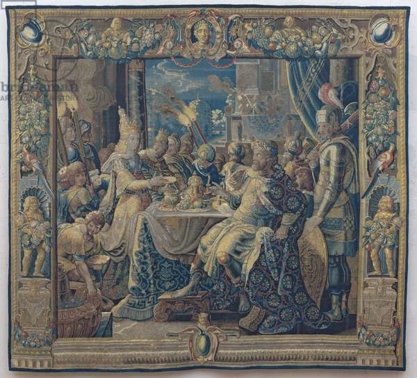 Cleopatra Entertains Anthony, c.1640 (wool & silk)