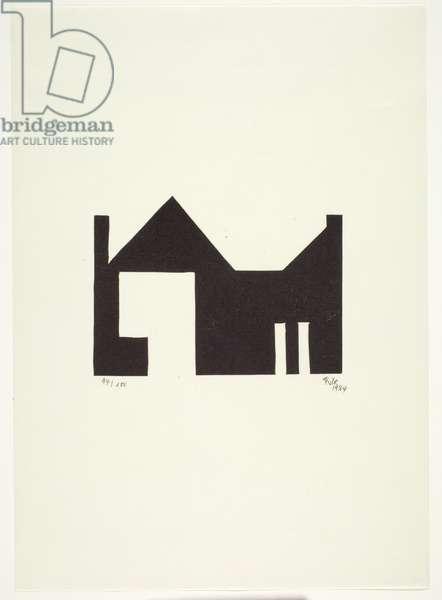 Untitled, 1924 (woodblock print on cream wove paper)