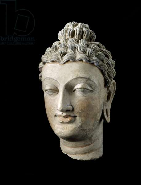 Head of Buddha, 300-399 (stucco & paint)