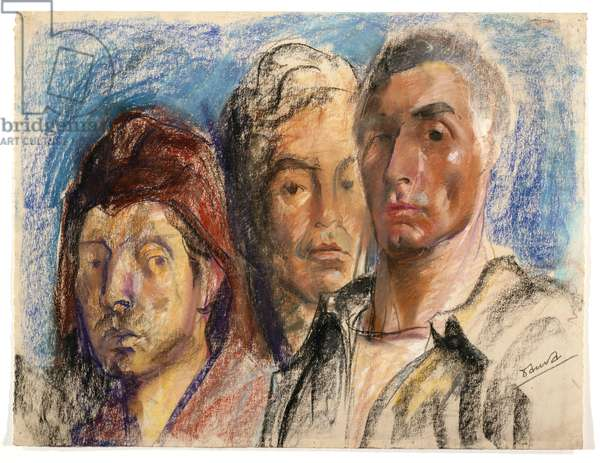 My Brothers in Arms, Spanish War, 1939 (pastel on paper)