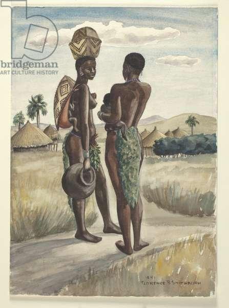 Ugandan women, 1941 (w/c on paper)