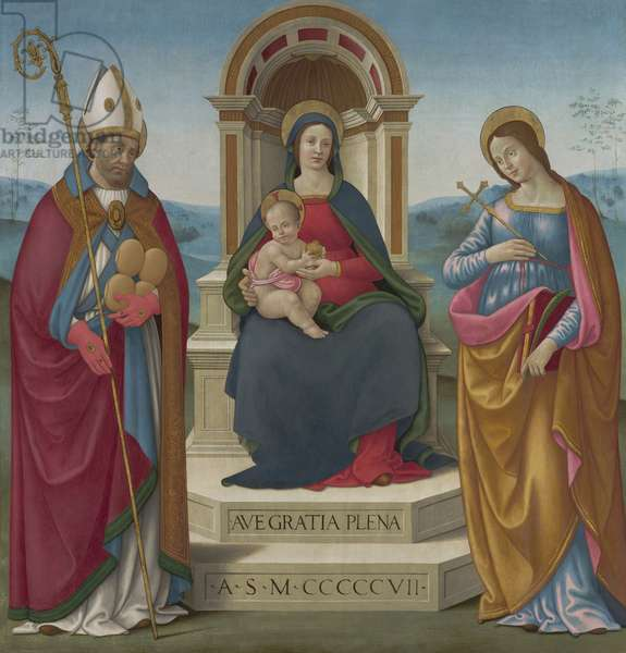 Madonna and Child with St Justus of Volterra and St Margaret of Antioch, 1507 (oil on wood)