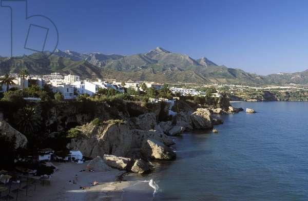 Playa de Calahonda, beach in Nerja, Costa del Sol, Malaga Province, Andalusia (Andalusia), Spain