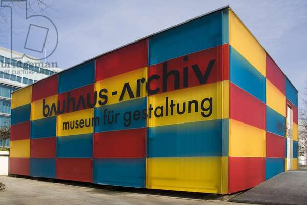 Bauhaus archives, museum for design, Berlin, Germany,