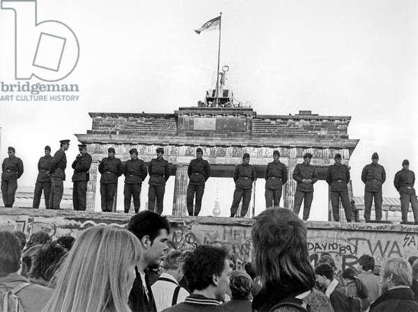 Fall of the Berlin Wall Sunday 12 November 1989.