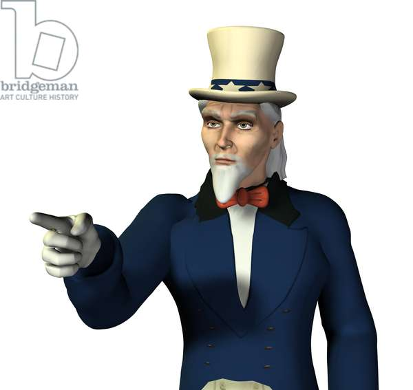 Synthesized image: personification of Uncle Sam