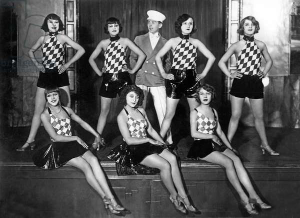Group of dancers. Photography around 1928
