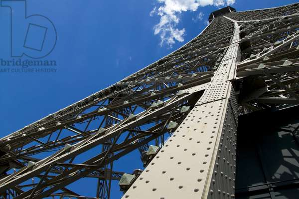 Eiffel Tower, detail, Paris, Ile de France, France