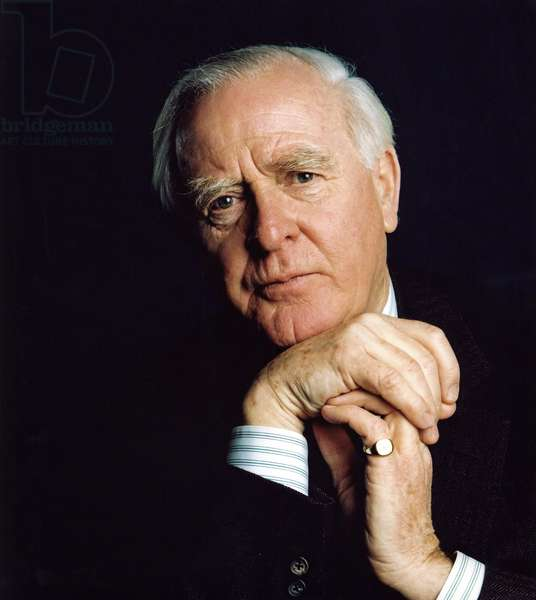 Portrait of the British writer John le Carre (born 1931).