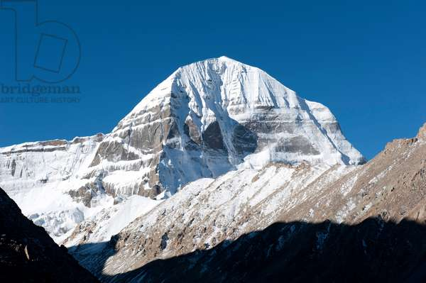 Mount Kailash, 6638m (21,778 ft) high peak in the Kailash Range, part of the Trans-himalaya in the Tibet  Autonomous Region of China
