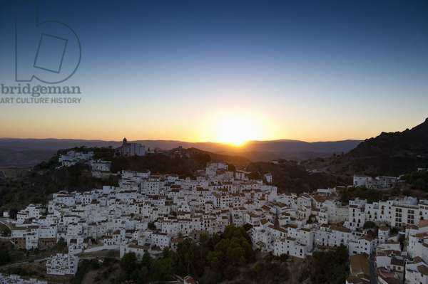 Casares, near Estepona, Costa del Sol, Andalusia, (Andalusia) Spain, Europe (sunset)