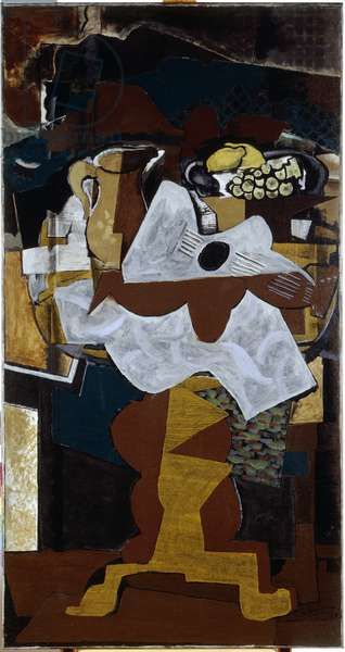 Pitcher, Guitar and Fruit, 1925 (oil on canvas)