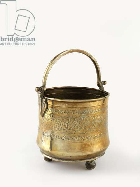 Bucket for the bathhouse (brass)