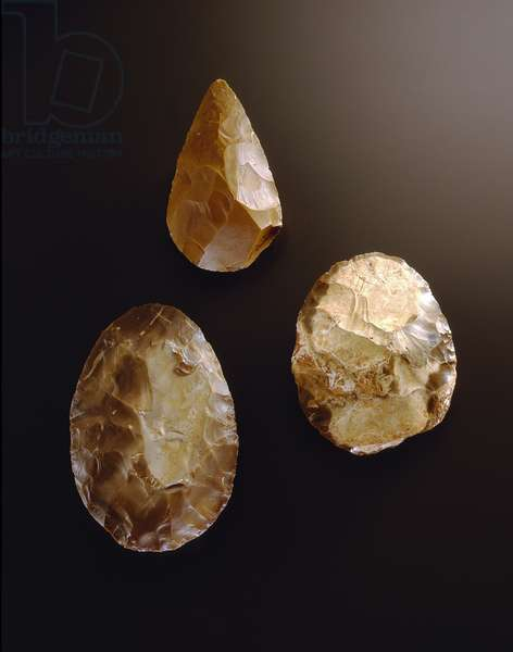 Hand axe, Maayan Baruch, Upper Galilee, Middle and Upper Acheulian Period (flint)