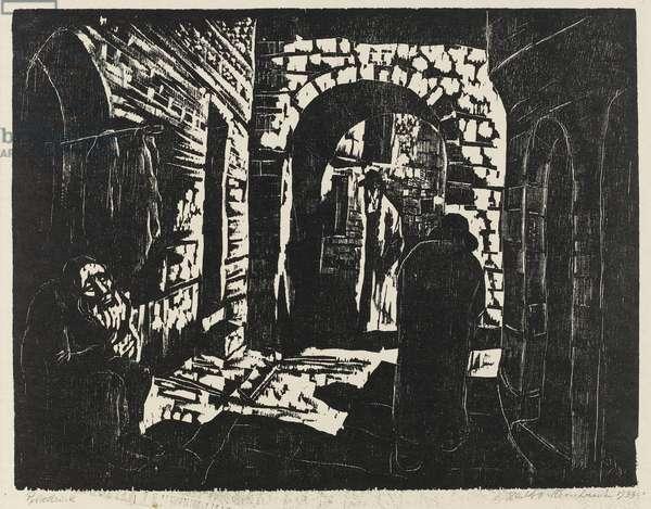 Mea Sheraim, 1934 (woodcut & wood engraving)