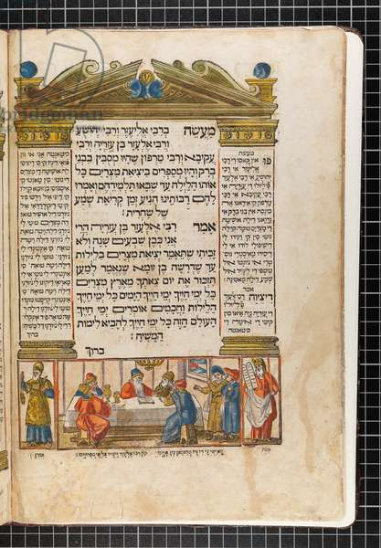 Illustration from the 'Venice Haggadah' (woodcut & w/c on paper)