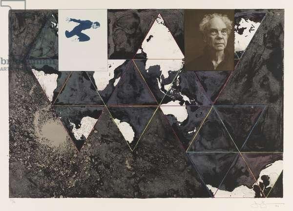 Ocean, 1996 (litho & ink on paper)