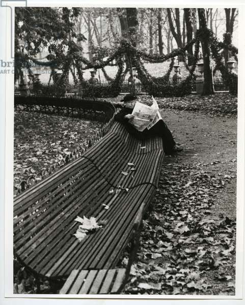 In the Jardin du Luxembourg, Paris, 1928 (silver gelatin print)