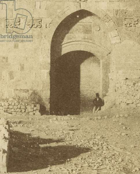 Photographic Views in the Holy Land: The Lions' Gate, Jerusalem, 1855-57 (salt print)